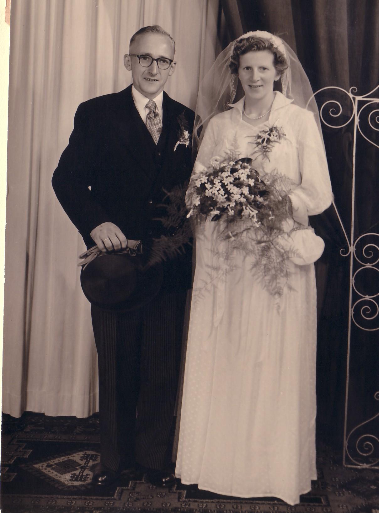 Huwelijk Adriaan Noordam en Jozina J. Keijzer (1955)