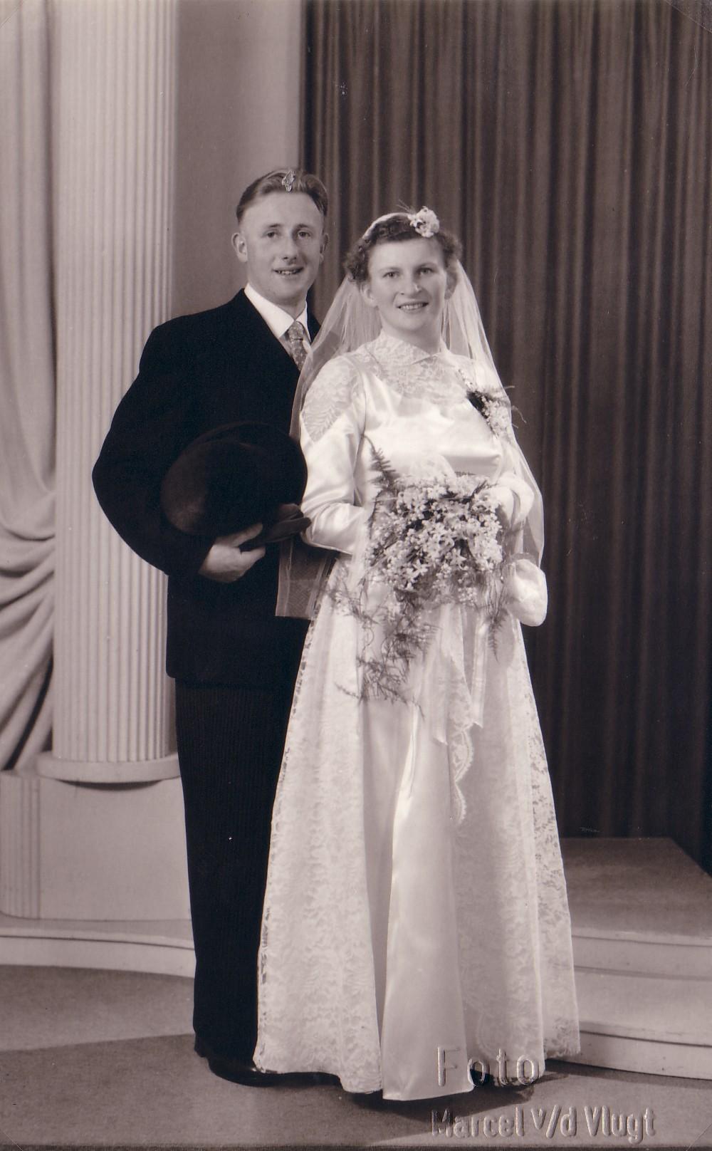 Huwelijk Cees Scheffers en Janna M. Keijzer (1956)