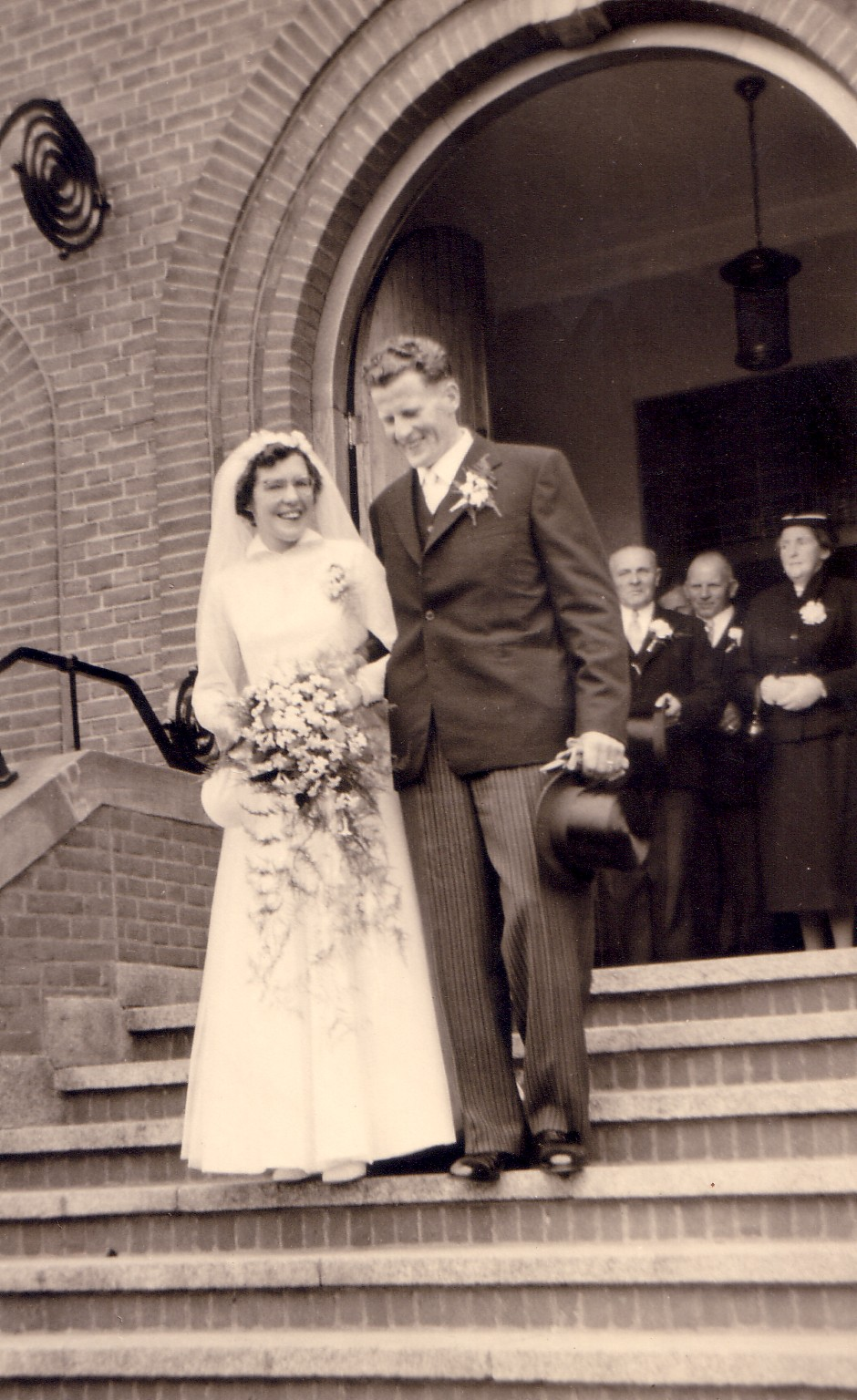 Huwelijk Christiaan Keijzer en Magthilda van Eijmeren (1956)