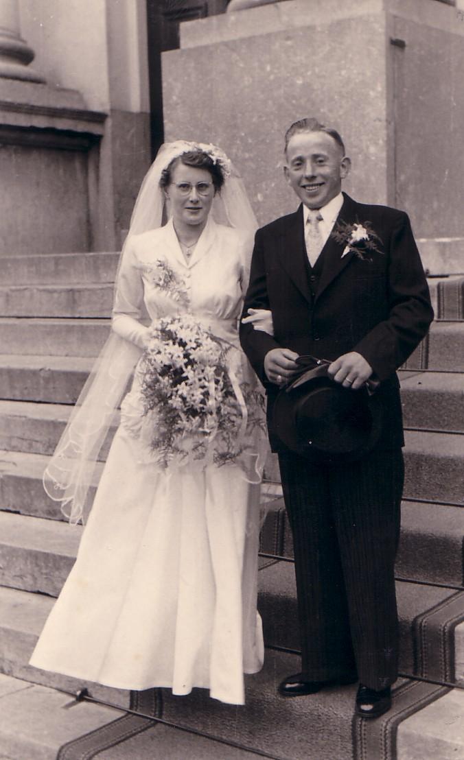 Huwelijk Dirk Keijzer en Maaike L. de Vogel (1952)