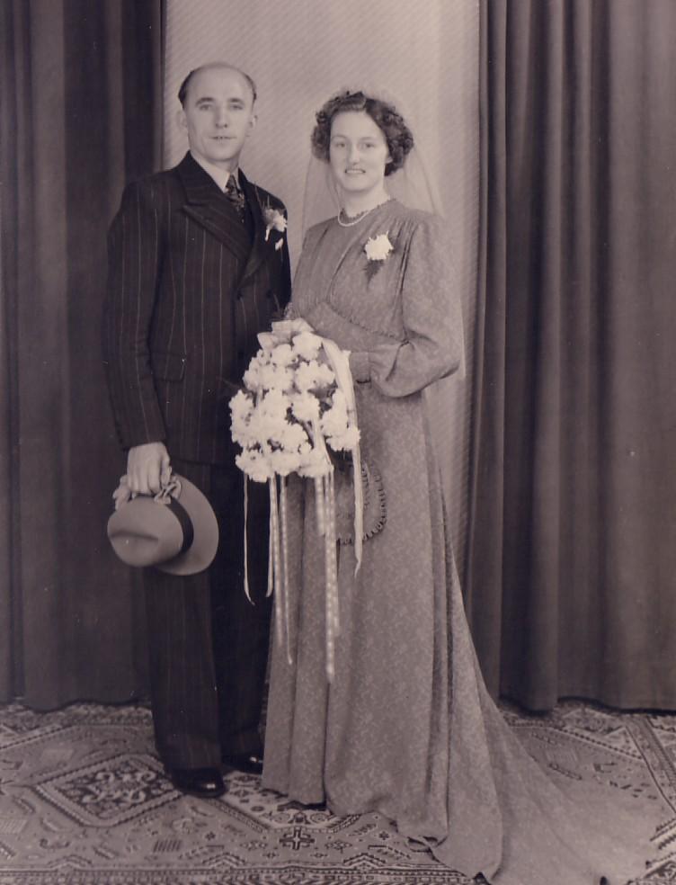 Huwelijk Gerrit Hoogenraad en Adriana C.Voogt (1952)