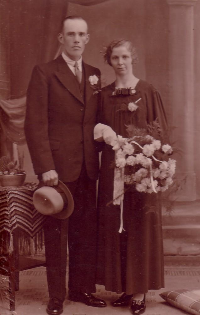 Huwelijk Andries ter Meer en Adriana Herbert (1936)