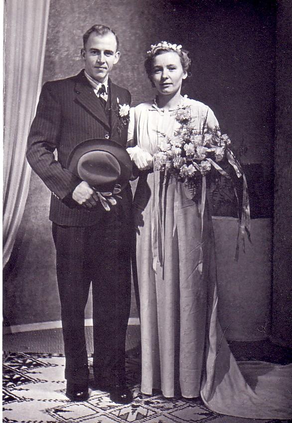 Huwelijk Lourens Herbert en Leentje Hoogenraad (1947)