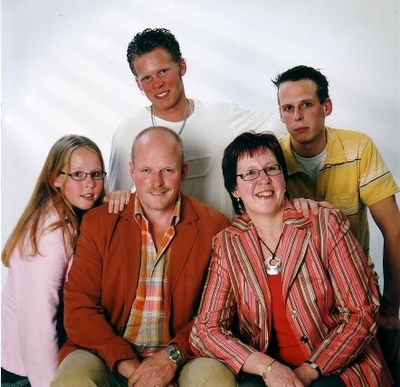 Gezin Adriaan Herbert en Adriana Keijzer in 2005