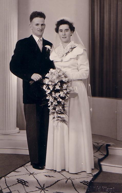 Huwelijk Pieter A Herbert en Trijntje Rensen (ca. 1955)