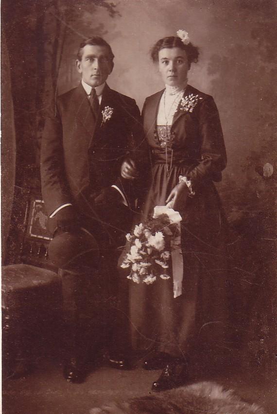 Huwelijk Pieter Romein en Elisabeth Boers (1917)