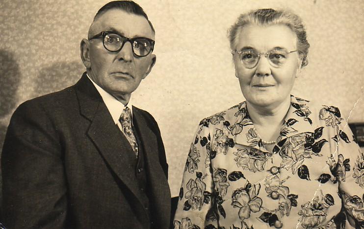 Pieter Romein en Elisabeth Boers op latere leeftijd