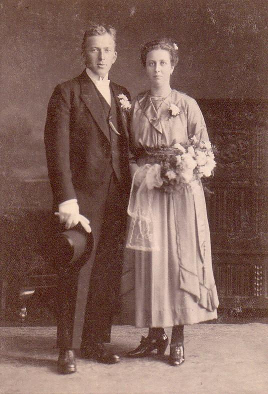 Huwelijk Jan Romein en Johanna Brandhorst (1921)