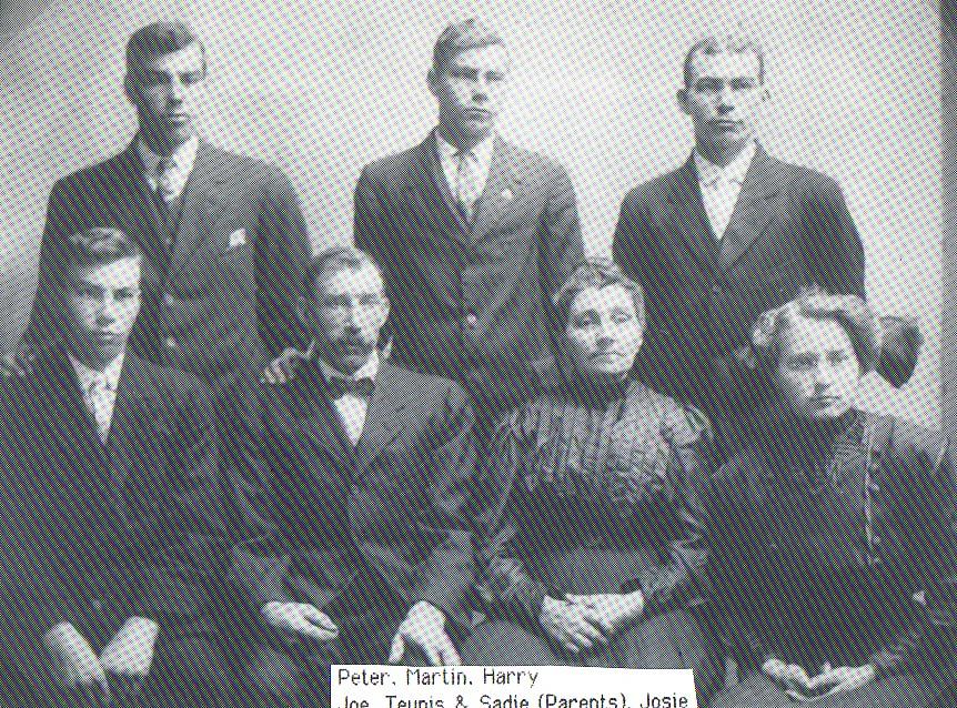 Het gezin van Teunis Romein en Sijgie de Haan, later, in Amerika