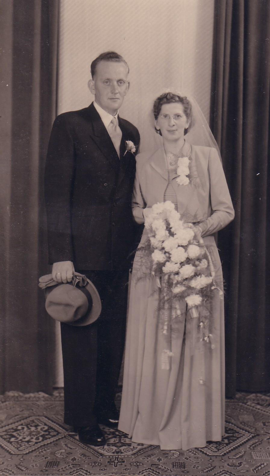 Huwelijk Albert Breedijk en Elizabeth Keijzer (1951)
