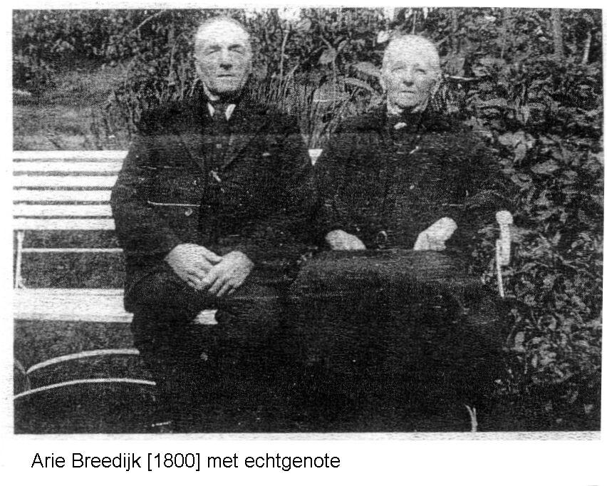Arie Breedijk en Geertruida Vroege