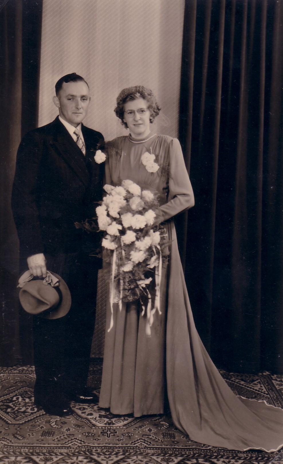 Huwelijk Adriana van Eijmeren en Arie van der Gaag (1950)