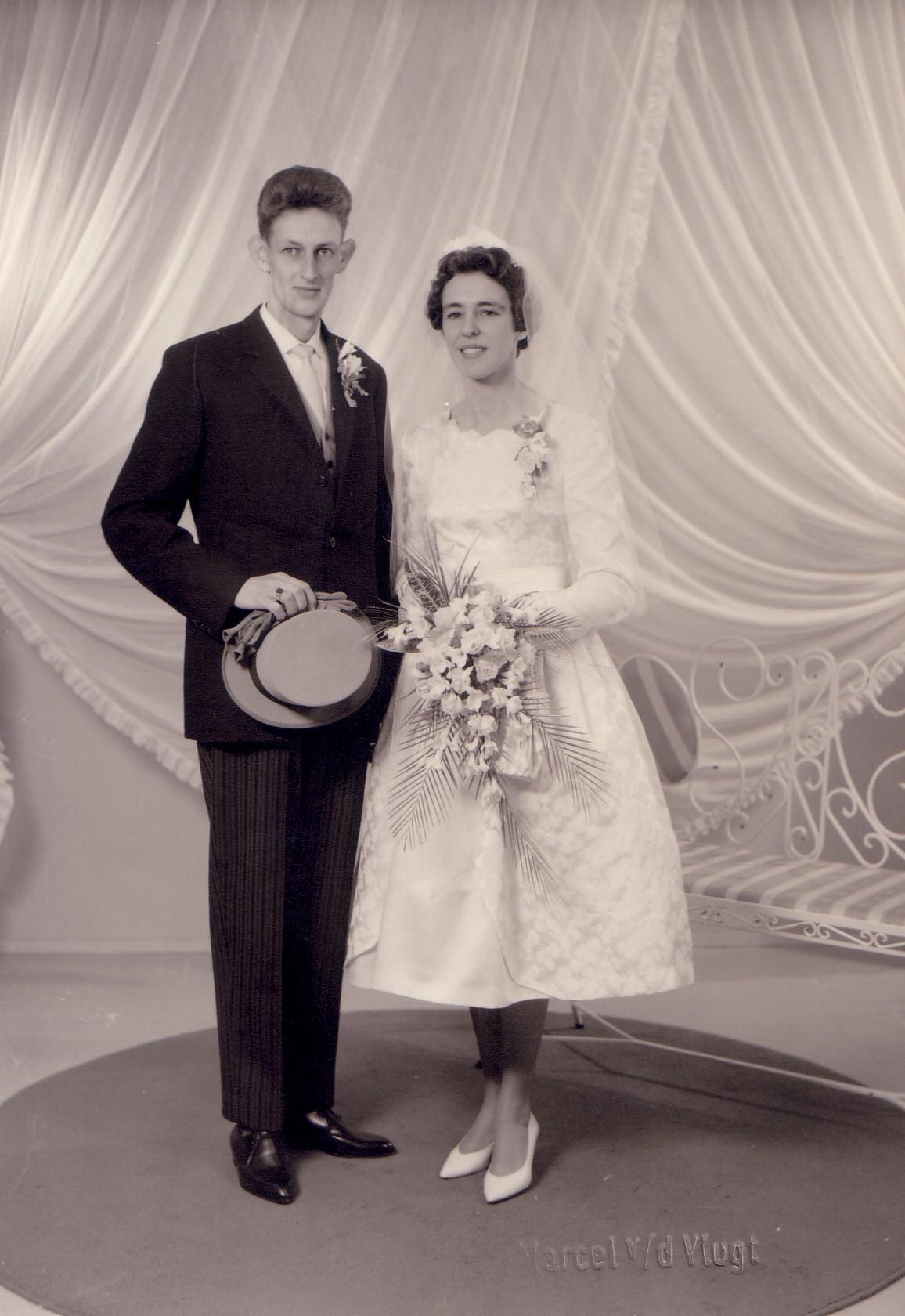 Huwelijk Hendrina M. van Eijmeren en Dirk van Velden (1961)