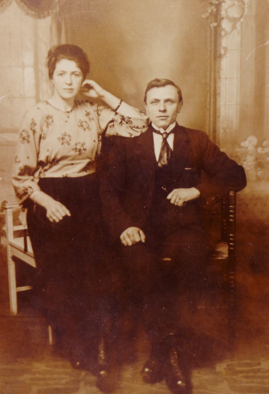 Gerrit van Eijmeren (1895-1981) en Adriana Dijkshoorn (1901-1978) rond 1921