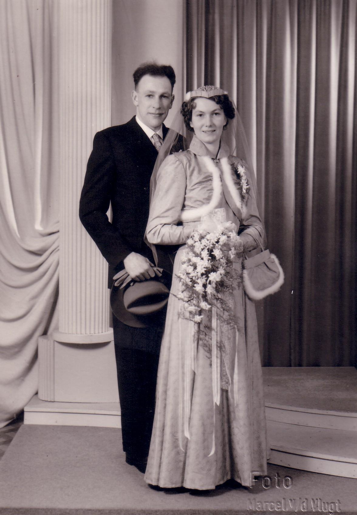 Huwelijk Hendrik van Eijmeren en Wilhelmina Stolze (1957)