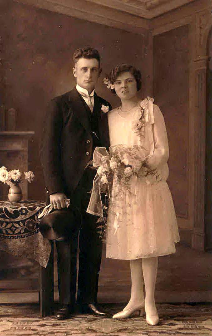 Huwelijk IJsbrand Boekestijn-Jaapje Dekker 1929