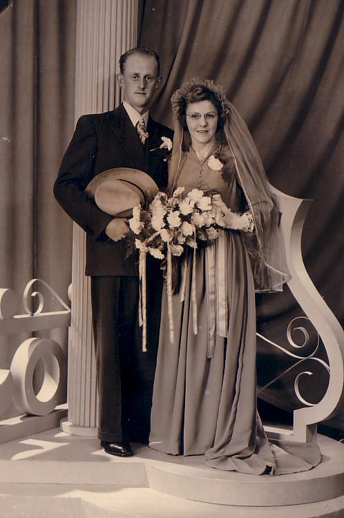 Huwelijk Piet Boekestijn-Jo Pellikaan 1951