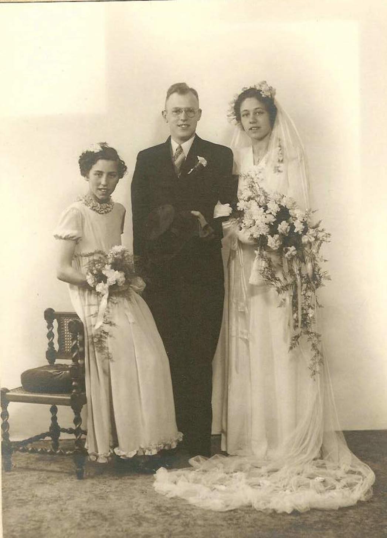 Huwelijk Pieter W.van Oosten en Johanna C. de Bakker (1940)
